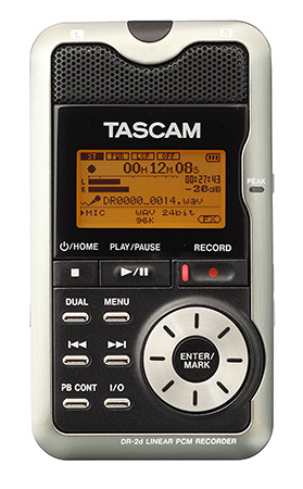 7 Digital Recording Devices for Oral History Interviews - TASCAM DR-2D