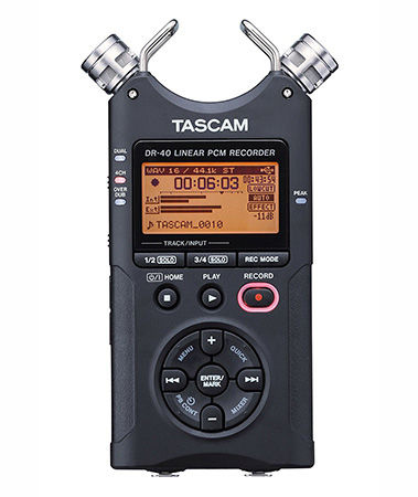 7 Digital Recording Devices for Oral History Interviews - TASCAM DR-40